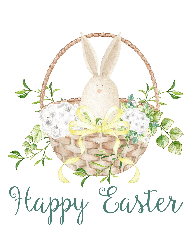Happy Easter Bunny Print
