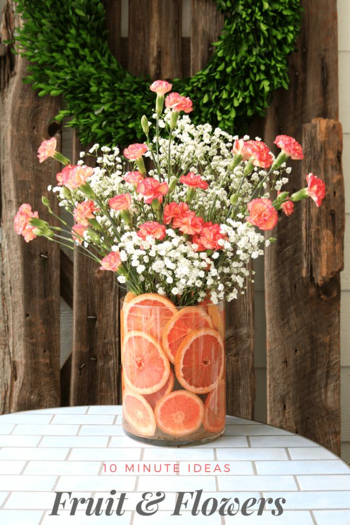 diy fruit floral arrangement