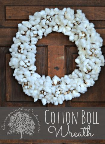 Cotton-Boll-Wreath