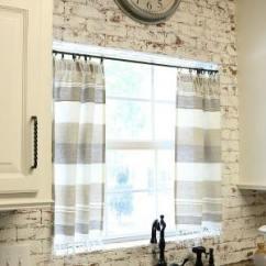 Kitchen Curtain Nook Table Set Dishtowel Curtains Refresh Restyle Diy