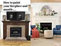 How to Paint Your Fireplace Brick & Mantel | Refresh Restyle