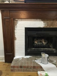 How to Paint Your Fireplace Brick & Mantel   Refresh Restyle