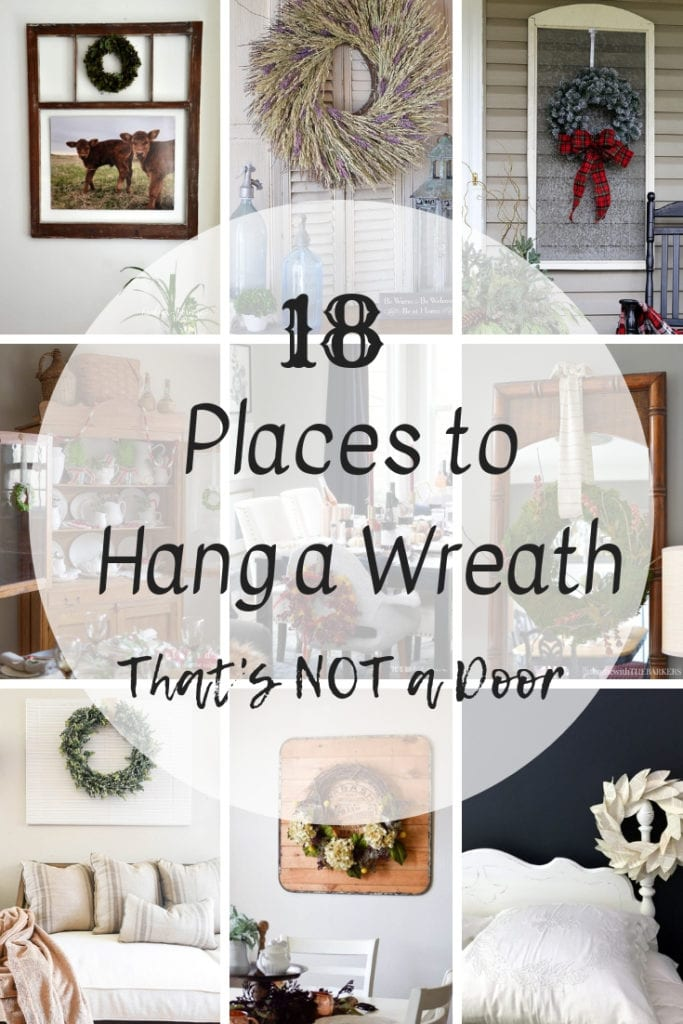 Wreath placement ideas