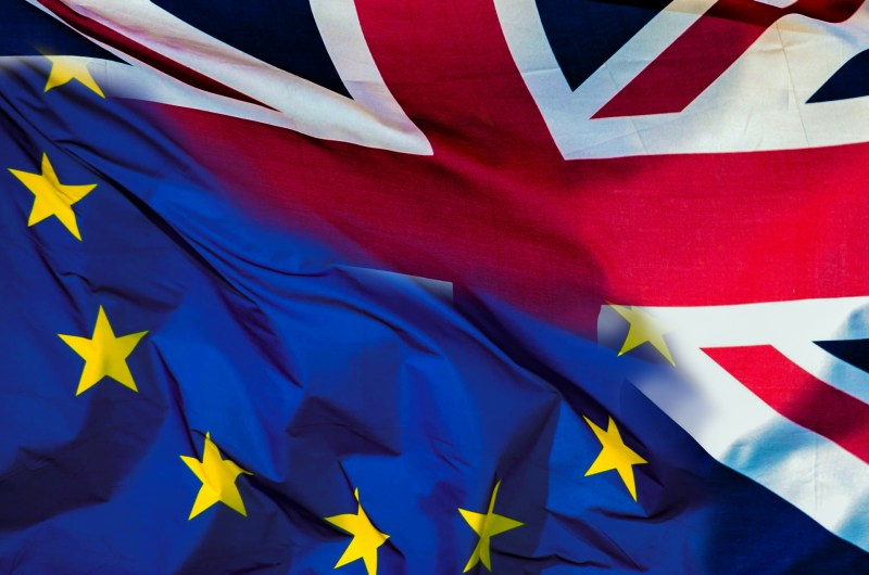 EU flag Union flag