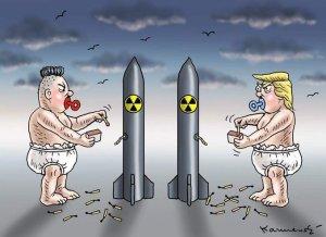Trump Kim cartoon