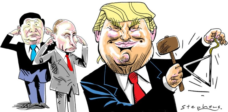 Xi Putin Trump cartoon