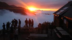 coucher de soleil aux Estagnous