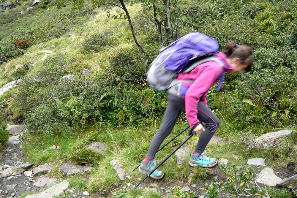 Randonnée dans le Couserans - la montée