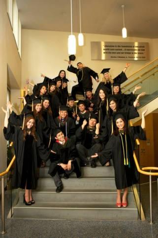MCPHS graduation crew
