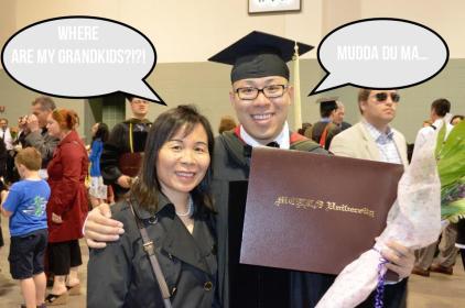 mom and me graduation