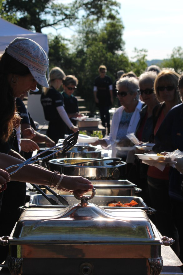 Serving Breakfast on Refugee Island