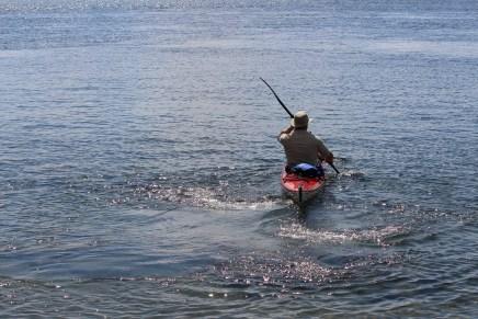 Kayaking away from Refugee Island