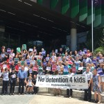 Nurses and doctors from Queensland Children Hospital take a stand against the detention of refugee and asylum seeker children.
