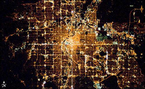 ciudades noche espacio