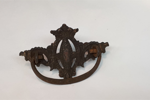 antique metal drawer pull