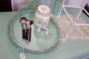 painted silver plated tray