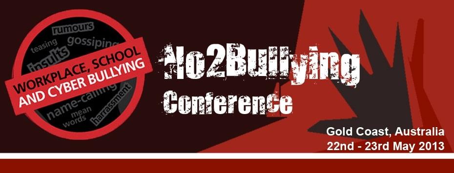 No 2 Bullying Conference Logo - Gold Coast Australia 2013