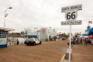 Final de la Ruta 66 en Santa Mónica, Los Ángeles