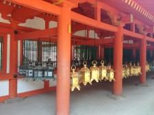 Detalle de templo en Nara
