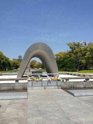 Arco en memoria de las víctimas del bombardeo de Hiroshima