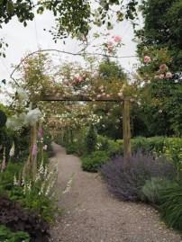 Pérgola de rosas en los jardines de Blarney Castle