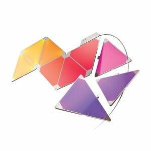 Nanoleaf Aurora Smarter Kit 9 Pannelli Led RGBW, 16.7 Milioni di Colori, 2 W