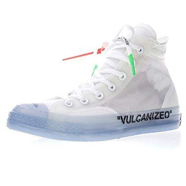 Regali per Ragazzi  ScarpedaGinnasticaHiSneakeraColloAltoUnisex-AdultoScarpeSportiveScarpedaBasketRunningUomoDonnaTrasparenteBiancaNeroBlu2 Sneaker OFF White x Converse Chuck 70