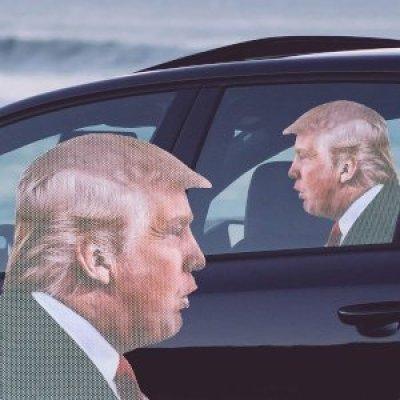 Gadget  AdesivoperAutoTrump-Regalo Adesivo per Auto Trump