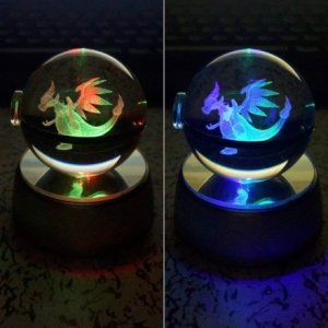Gadget Regali per Ragazzi  CrystalEngravedPokeballs-Regalo Pokeball di cristallo; idea regalo a tema Pokemon