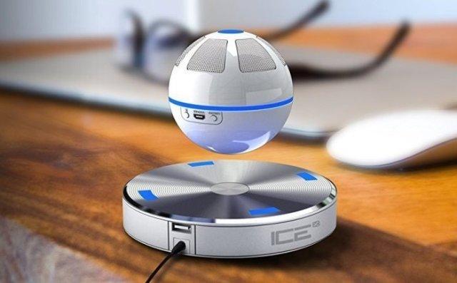 Gadget  ICEOrbFloatingBluetoothSpeaker-WhiteBlue-Regalo Cassa audio fluttuante ICE Orb