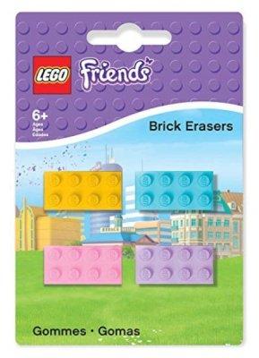 Casa & Ufficio Gadget Regali per Ragazzi  Lego51608-GommedaCancellareFriendsBaustein4Pezzi-Regalo Gomme da Cancellare Lego