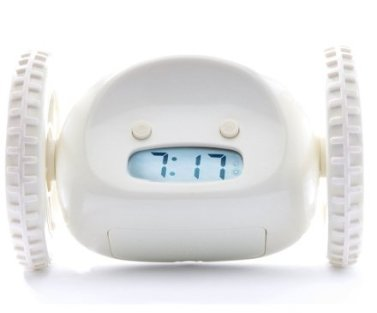 Casa & Ufficio Gadget  ClockyLaSvegliaSfuggente-Cromo-Regalo Clocky  La Sveglia che scappa!