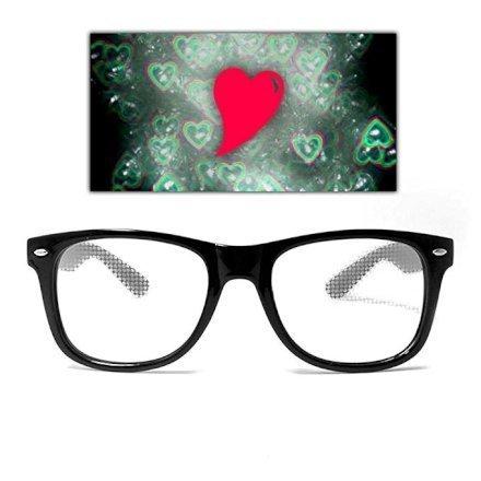 Feste e Anniversari Gadget  HeartDiffractionGlasses-Regalo Occhiali a diffrazione cuoricinosa