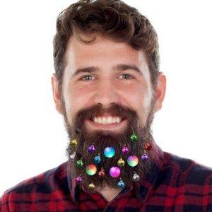 Feste e Anniversari Gadget Regali per uomo  LightUpBeardBaubles-Regalo Luci di Natale da Barba