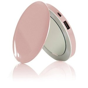 gadget HYPER Pearl - Specchietto da donna e Power Bank 2 in 1