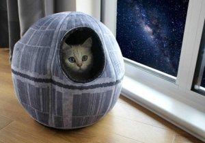 Amici Animali  StarWarsPetCaveDeathStarMonsterFactoryGadgets-Regalo Cuccia Star Wars della Morte Nera