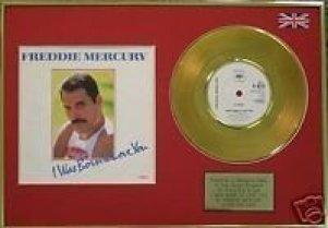 Gadget Oggetti Fantastici Regali per Donna Regali per uomo  UKMusicAwardsFreddieMercury–discodoro24carati17-Regalo Freddie Mercury, I was born to love you - disco d' oro commemorativo