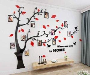 casa-ufficio Alicemall Albero con cornici per foto, adesivo da Parete