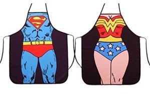 Casa & Ufficio Gadget  ALLYCucinaGrembiuleSexyChefCuocoGrembiuli2PezziS-Regalo ALLY Grembiule da cucina Superman e Wonder Woman