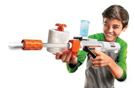Gadget Regali per Ragazzi  JakksPacificTPBlasterColoreBiancoBluArancione6173-Regalo Fucile spara carta-igienica