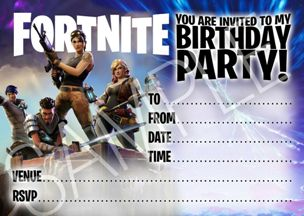 invito festa fortnite