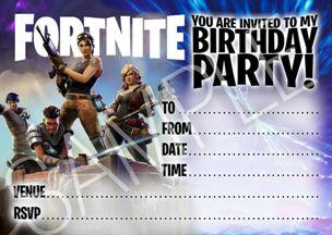 invito festa fortnite