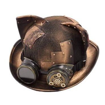 Gadget Regali per Donna  GRACEARTDonnaGattoOrecchieSteampunkCappello-Regalo Cappello Steampunk