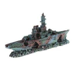 Decorazione da acquario nave affondata