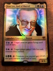 Stan Lee Marvel Magic The Gathering MTG card