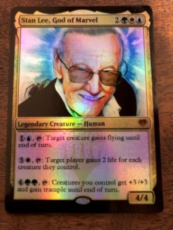 Gadget Oggetti Fantastici  MTG-StanLee-Regalo Stan Lee Marvel Magic The Gathering MTG card