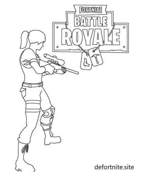 Fortnite-Battle-Royale-Colorear-Imágenes-Para-Pintar-Dibujos-Infantiles