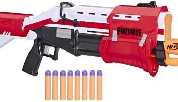 pistola nerf fortnite escopeta tactica