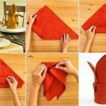 Doblar servilletas de forma decorativa