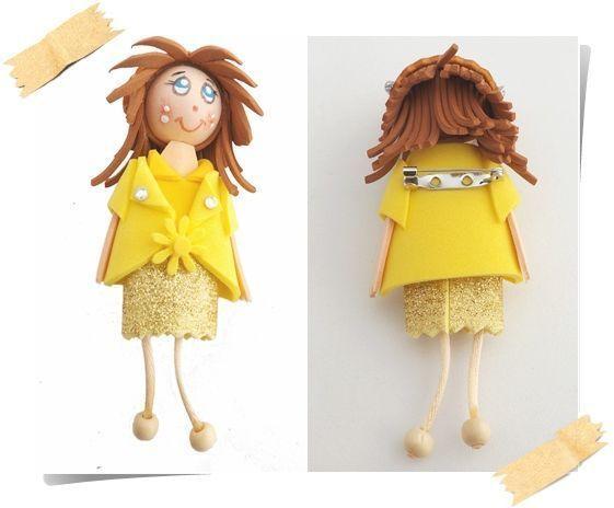 muñecas de goma eva con broche